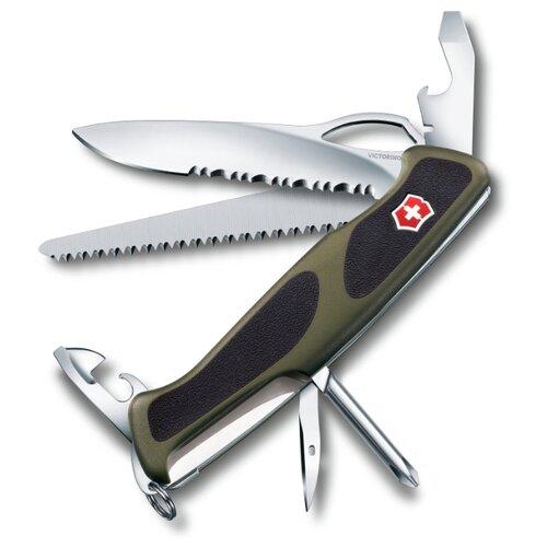 Нож многофункциональный VICTORINOX RangerGrip 178 (12 функций) зеленый/черный нож перочинный victorinox rangergrip 61 0 9553 mc4 130мм 11 функций чёрно зеленый