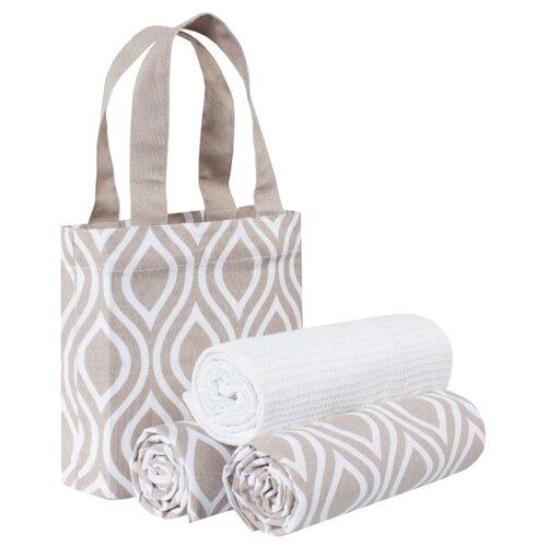 Guten Morgen набор полотенец в сумке Верано кухонное 45х70 см коричневыйПолотенца<br>