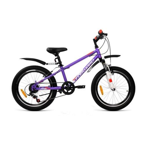 Фото - Подростковый горный (MTB) велосипед FORWARD Unit 20 2.0 (2020) фиолетовый 10.5 (требует финальной сборки) горный mtb велосипед merida matts 7 20 2020 glossy purple lilac s требует финальной сборки