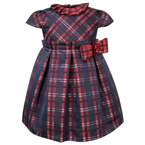 Платье Marlu размер 68-74, синий/красный/клетка