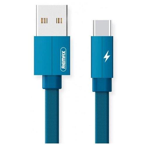 Кабель Remax Kerolla USB - USB Type-C (RC-094a) 1 м синий кабель remax kerolla usb usb type c rc 094a 1 м синий