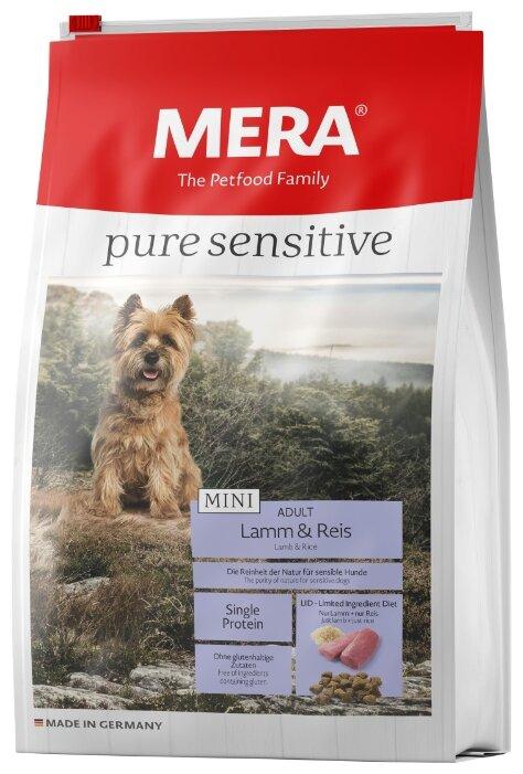 Корм для собак Mera Pure Sensitive Mini с ягненком и рисом для взрослых собак