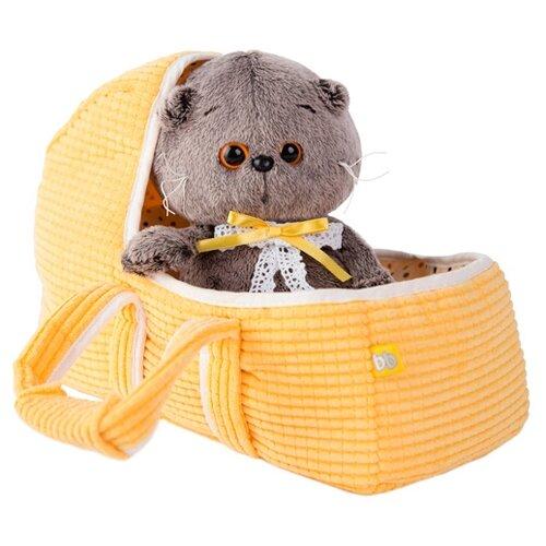 Мягкая игрушка Basik&Co Кот Басик baby в люльке 20 смМягкие игрушки<br>