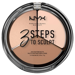 NYX Палетка для скульптурирования 3 Steps to Sculpt Face Sculpting Palette