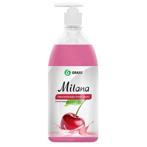 Крем-мыло жидкое Grass Milana Спелая черешня, 1 л жидкое крем мыло grass milana жемчужное 5л