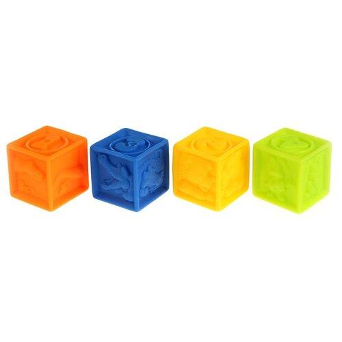 Фото - Набор для ванной Играем вместе Кубики (LXN-3D-4) оранжевый/желтый/голубой/зеленый набор для ванной играем вместе котенок гав и щенок 136r pvc белый оранжевый