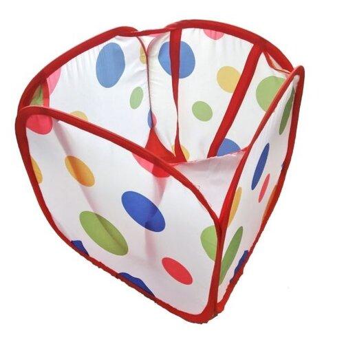 Корзина Наша игрушка Цветной горошек 31х31х32 см (889-103B) белый/красный