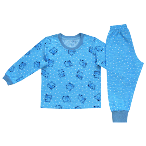 Пижама ПАНДА дети размер 92, голубойДомашняя одежда<br>