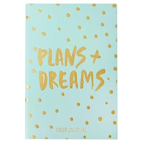Купить Ежедневник ArtFox Plans + dreams 4812809, искусственная кожа, А5, 96 листов, голубой, Ежедневники, записные книжки