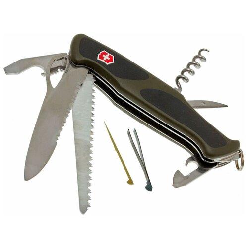 Нож многофункциональный VICTORINOX Ranger Grip 179 (12 функций) зеленый/черный нож многофункциональный victorinox ranger camping 21 функций красный
