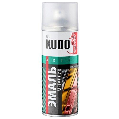 Эмаль KUDO универсальная металлик Reflective finish хром 210 мл