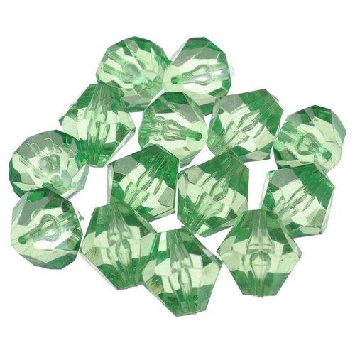 Купить Astra & Craft бусины 684982 прозрачные 57 зеленый, Фурнитура для украшений
