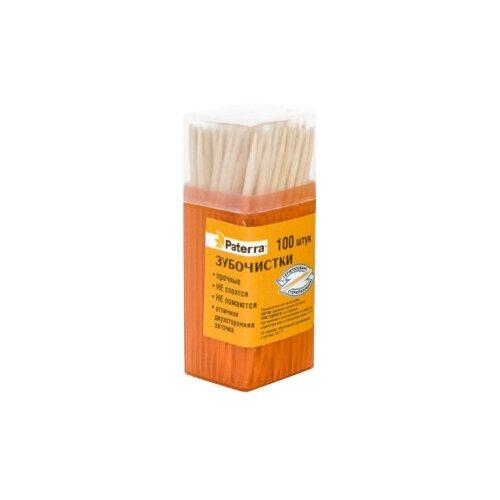 Paterra зубочистки деревянные, 100 шт
