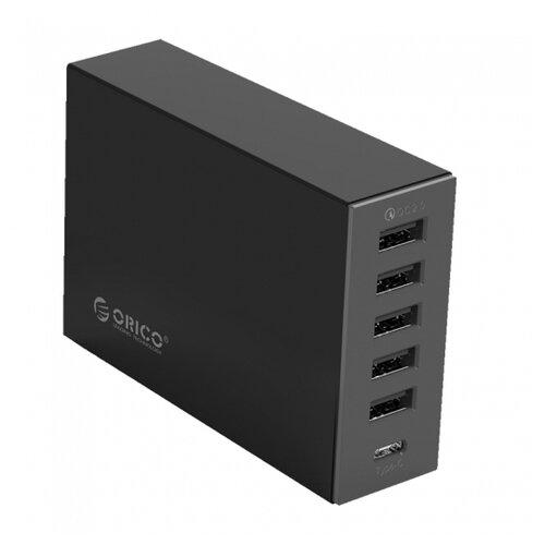 Купить Сетевая зарядка ORICO TSL-6U черный