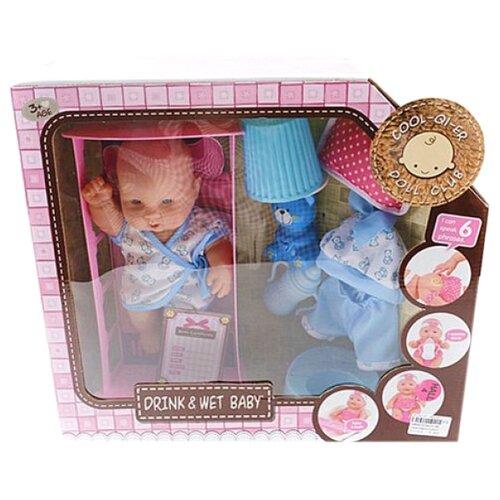 Купить Пупс Shantou Gepai с кроваткой и аксессуарами 30 см 6625-4B, Куклы и пупсы