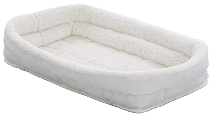 Лежак для кошек, для собак Midwest QuietTime Deluxe Fleece Double Bolster 56х30х10 см