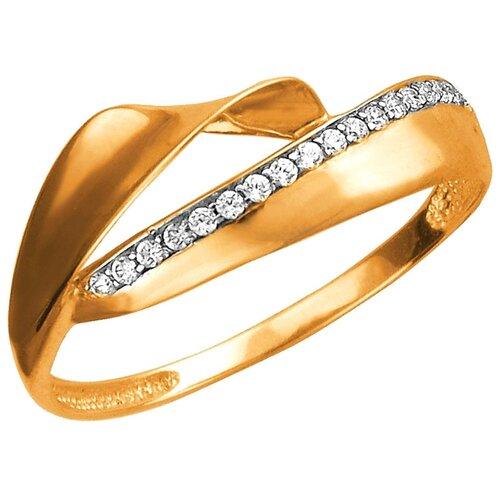 Эстет Кольцо с 18 фианитами из красного золота 01К1112587Р, размер 18