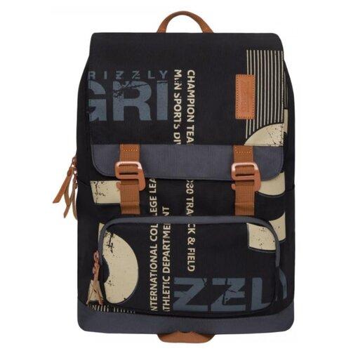 Рюкзак Grizzly RU-929-1 14 черный/серый рюкзак городской grizzly цвет синий ru 804 1 4