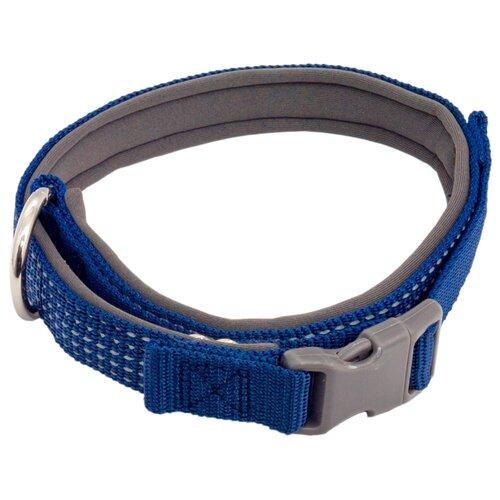 Ошейник КАСКАД Premium 26-40 см синий