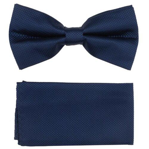 Комплект из 2 предметов OTOKODESIGN галстук-бабочка и платок 537/560 синий