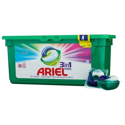 Ariel капсулы Color, контейнер, 30 шт капсулы ariel 30 шт ariel