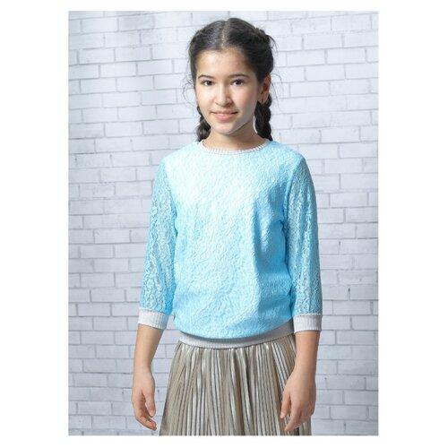 Блузка Nota Bene размер 158, бирюзовый nota bene nota bene школьная блузка серая