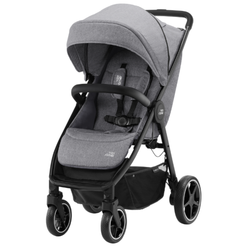 Прогулочная коляска BRITAX ROMER B-Agile R Elephant Grey/Black коляска britax детская прогулочная коляска britax b agile 4 plus с капором sand beige