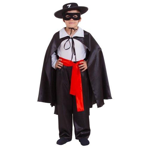 Купить Костюм Страна Карнавалия Зорро (2465846-2465850), черный/белый, размер 134, Карнавальные костюмы