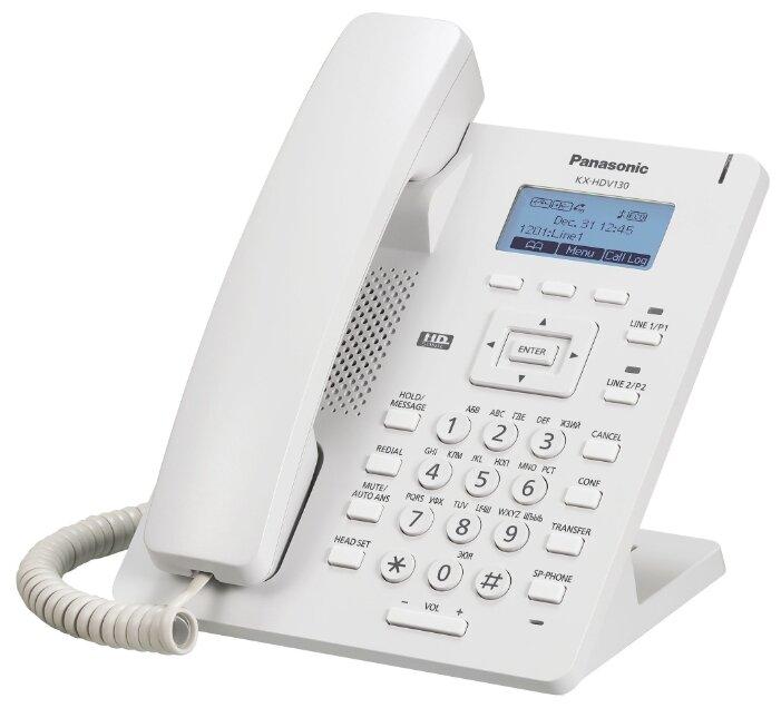 VoIP-телефон Panasonic KX-HDV130 белый