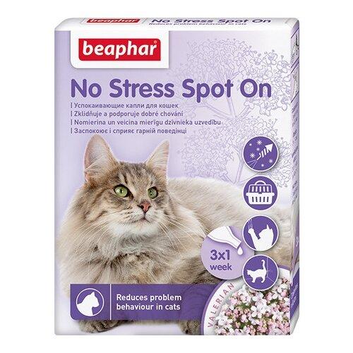 Капли Beaphar No Stress Spot On для кошек, 0.4 мл х 3шт. в уп. капли relaxivet успокоительные spot on 0 5 мл х 4шт в уп