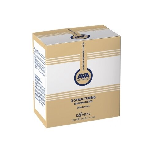 Купить Kaaral Восстанавливающий лосьон для поврежденных волос с пшеничными протеинами AAA X-Structuring, 10 мл, 12 шт.