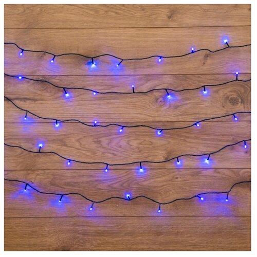 Гирлянда NEON-NIGHT Твинкл Лайт, 25 LED, 400 см, 25 ламп, синий/зеленый провод гирлянда neon night колокольчики 20 led 280 см 20 ламп разноцветный зеленый провод
