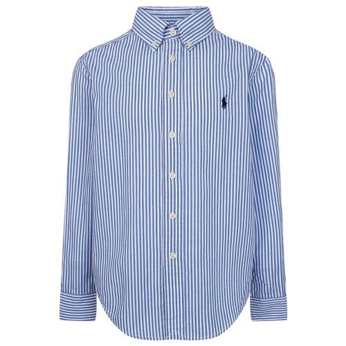 Рубашка Ralph Lauren размер 116, голубой/белый