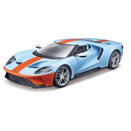 Купить Легковой автомобиль Bburago Ford GT (18-43043) 1:32 13.5 см голубой/оранжевый, Машинки и техника