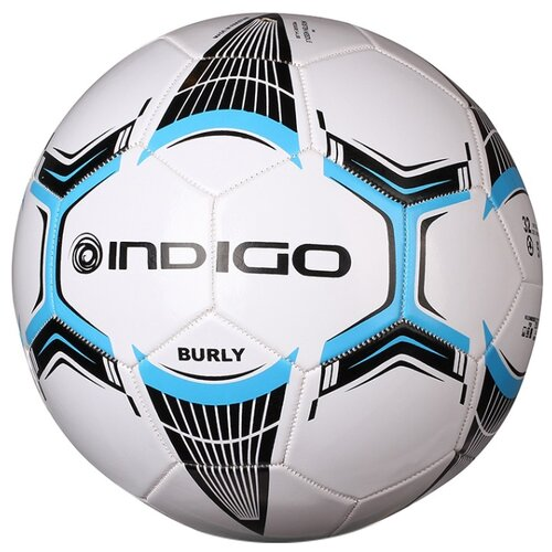 Футбольный мяч Indigo BURLY 1134 белый/голубой/серый 5Мячи<br>