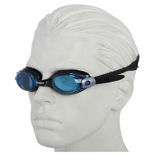 Очки для плавания Larsen S28 синий/черный