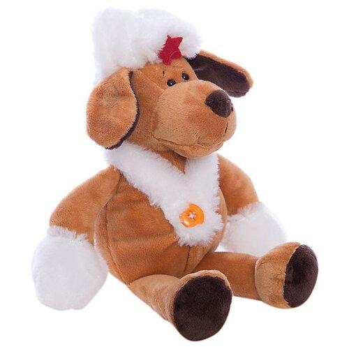 Мягкая игрушка ABtoys Собака в белой ушанке 20 см