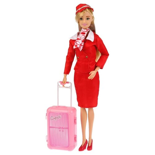 Купить Кукла Карапуз София стюардесса, 29 см, 99164-S-AN, Куклы и пупсы