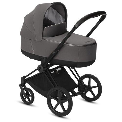 Купить Коляска для новорожденных Cybex Priam III (люлька) manhattan grey/matte black, цвет шасси: черный, Коляски