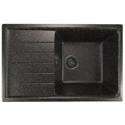 Фото - Врезная кухонная мойка 75 см Mixline ML-GM19 черная 308 врезная кухонная мойка 57 см mixline ml gm17 темно серая 309