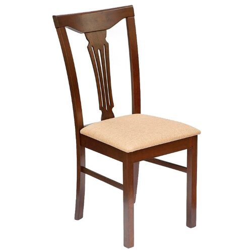 Комплект стульев TetChair Hermes, дерево/текстиль, 2 шт., цвет: темный орех
