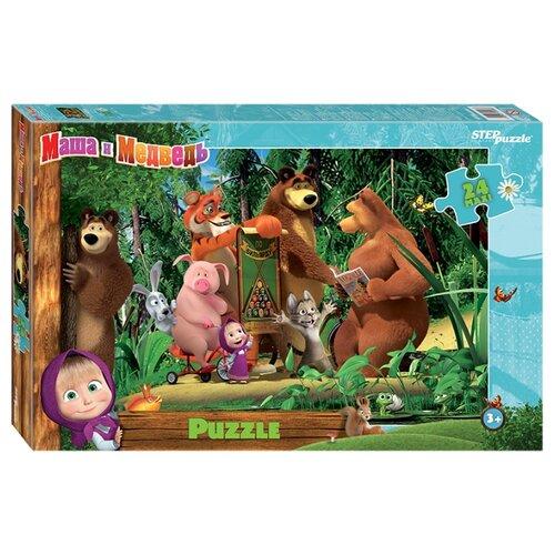 Купить Пазл Step puzzle Анимаккорд Маша и Медведь (90048), элементов: 24 шт., Пазлы