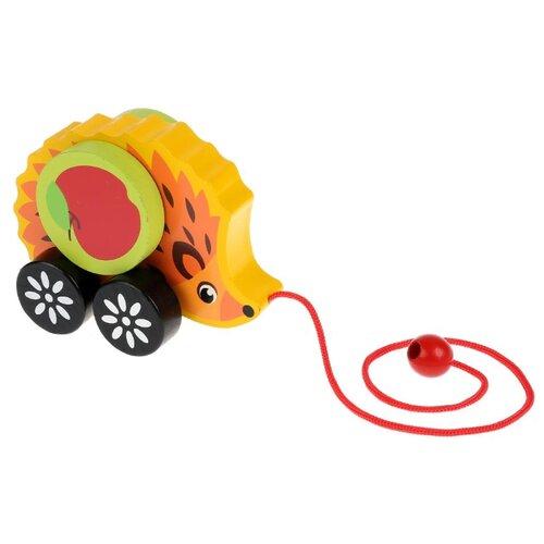 Каталка-игрушка Буратино Ёжик (37-62) желтый/оранжевый игрушка деревянная буратино каталка ежик в русс кор в кор 100шт