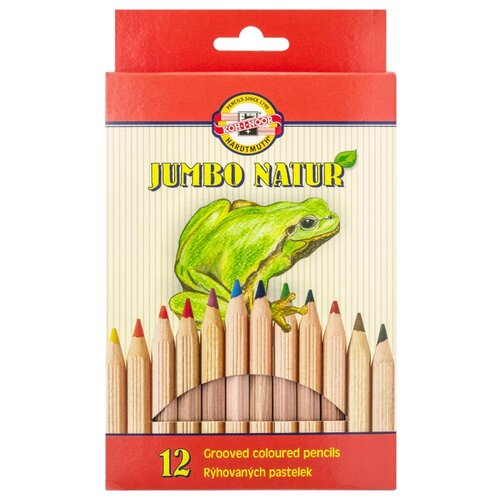 Купить KOH-I-NOOR Набор цветных карандашей Jumbo Natur, 12 цветов (2172N12001KS), Цветные карандаши