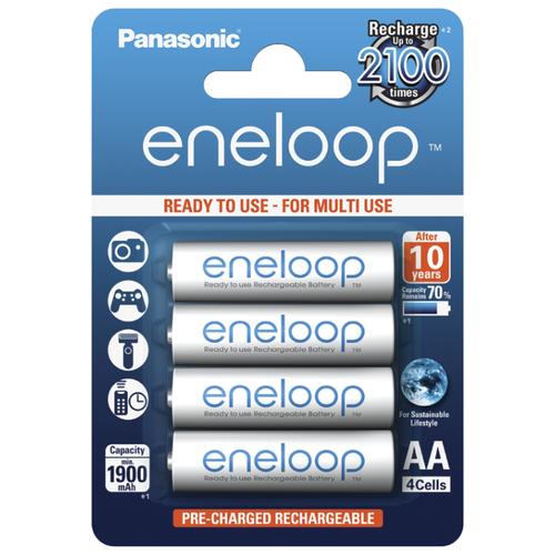 Фото - Аккумулятор Ni-Mh 1900 мА·ч Panasonic eneloop AA 4 шт блистер аккумулятор ni mh 2600 ма·ч varta recharge accu power 2600 aa 4 шт блистер