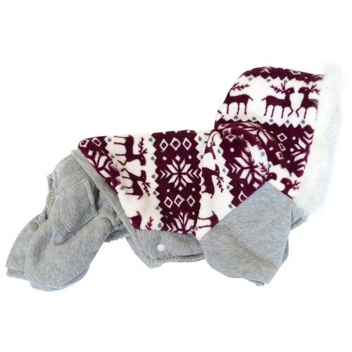 Костюм для собак Удачная покупка P0018 XL серый / красный