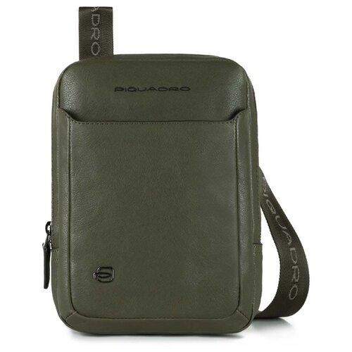 сумка планшет piquadro натуральная кожа табачный Сумка планшет PIQUADRO, натуральная кожа, зеленый