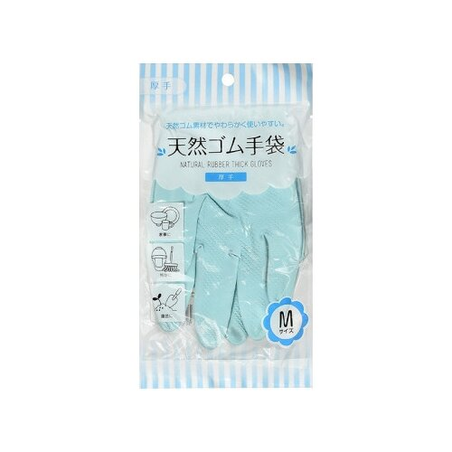 Перчатки CAN DO хозяйственные латексные толстые, 1 пара, размер M, цвет голубой