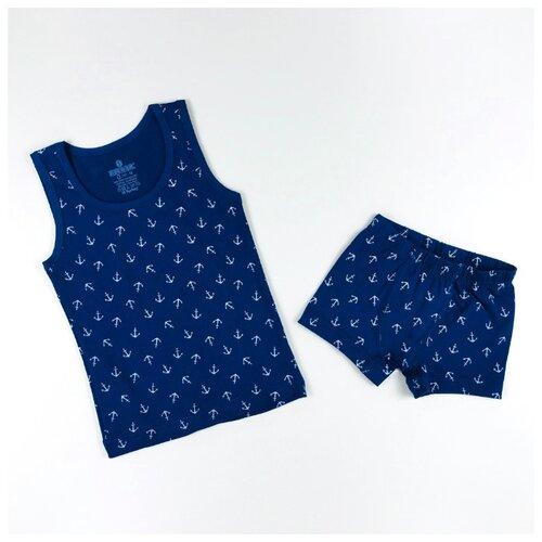Купить Комплект нижнего белья BAYKAR размер 86/92, синий, Белье