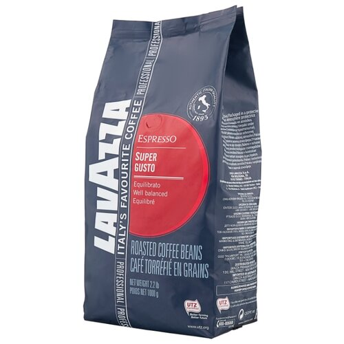 цена Кофе в зернах Lavazza Super Gusto UTZ, арабика/робуста, 1000 г онлайн в 2017 году